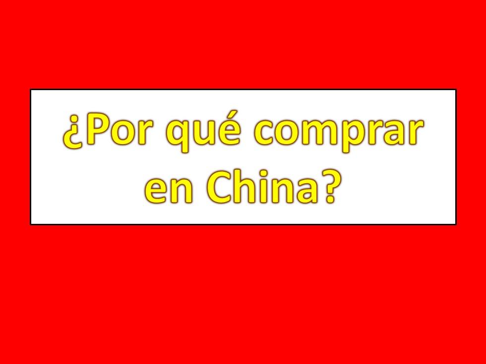 por que comprar en china